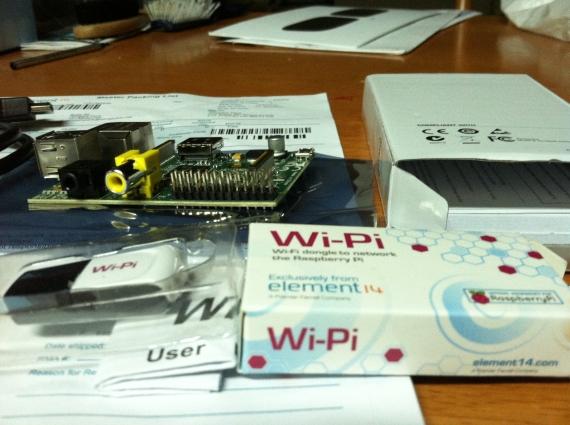 Raspberry Pi with WIFI module