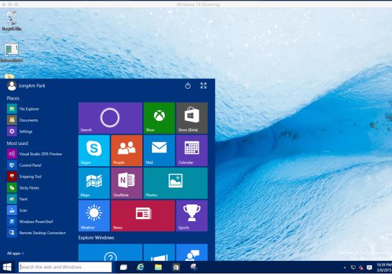 Start menu and integrated Start screen